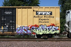 Sicks/Voice (quiet-silence) Tags: railroad art train graffiti voice railcar sicks boxcar graff sws freight wh tbox ttx fr8 kbt tbox661159