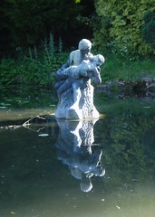 Fisherman & Nymph Sculpture (Aidan McRae Thomson) Tags: sculpture reflection water pool statue warwickshire coombeabbey