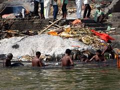 Manikarnika Ghat - Cremations (16) (pensivelaw1) Tags: india varanasi cremations manikarnikaghat