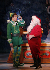 (L to R) Daniel Patrick Smith and Ken Clement from the Elf The Musical tour company presented by Broadway Sacramento at the Community Center Theater Nov. 6 – 15, 2015. Photo by Chris Bennion.