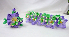 DSCF5646 (EruwaedhielElleth) Tags: flowers flower hair handmade fabric hana accessory tsumami kanzashi zaiku imlothmelui