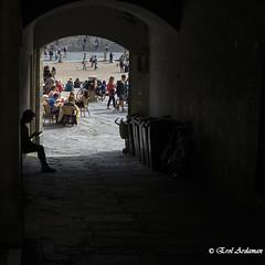 Alone (ironsailor) Tags: travel italy square siena sonnar3528za sonya7m2