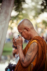 Thailand - Monk (Cyrielle Beaubois) Tags: old city travel thailand asia monk thalande wanderlust southeast sukhothai 2015 canonef70200mmf40lusm canoneos5dmarkii cyriellebeaubois