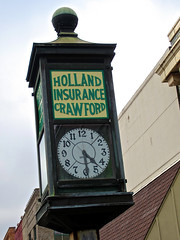 Holland-Crawford Insurance, Minden, LA (Robby Virus) Tags: green clock architecture tile louisiana gorgeous bank company agency romanesque minden insurance hollandcrawford