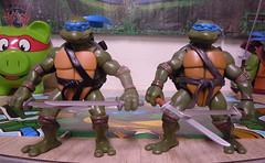 """Nickelodeon """"HISTORY OF TEENAGE MUTANT NINJA TURTLES"""" FEATURING LEONARDO -  TMNT 2k3 LEONARDO iii / ..with Original '03 Leonardo (( 2015 )) (tOkKa) Tags: nickelodeon tmnt toontmnt toonleo 1993 teenagemutantninjaturtles historyofteenagemutantninjaturtlesfeaturingleonardo toys figures leonardo 2015 displaystand playmatestoys toysrus toysrusexclusive varnerstudios moviestartmnt ninjaturtlesthenextmutation 4kidstmnt tmnt2003 tmntmovie4 paramountsteenagemutantninjaturtles 2007 1992 1988 2006 2005 2014 2012 tmntfastforward paramountteenagemutantninjaturtles tmnt2014movie eastmanandlairdsteenagemutantninjaturtles comic turtlemilkstudios davearshawsky imagesrctokkaterrible2zcom"""