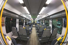 Fisheye photo of an empty train (MJonesPhotography) Tags: camera november night train photography photo birmingham different carriage empty sunday samsung fisheye nighttime trainstation midnight brum birminghamuk 10mm bham newstreetstation nx300 samsungnx300