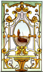 Boat stained glass reproduction 1890 (RDW Glass) Tags: window scotland boat glasgow painted victorian stainedglass kiln reproduction fired stepps rdwglass