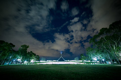 Parliament House, Canberra (5eba5tian_01) Tags: sky night clouds stars lights australia astro canberra barton parliamenthouse nightexposure