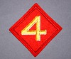 WW-2 Fourth Marine Division (Pacific Kilroy) Tags: wwii ww2 us mc marine marines corps shoulder patch collectible memorabilia militaria four red worldwarii pacifictheater usmarines marinecorps shoulderpatch fourthdivision