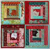 Kitty Potholders (PatchworkPottery) Tags: kitty cat potholder quilted quilt patchwork handmade pattern patchworkpottery logcabin freemotion
