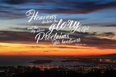 Psalms 19:1 (Arnage) Tags: hawaii travel verses typography landscape sunset