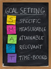 Goal-Setting New Years Printables and Resolutions (HeartHandmadeUK) Tags: organized planner printables goal setting smart specific measurable attainable relevant timebound resolution strategy blackboard chalkboard chalk white black smudge handwriting stickynote paper crumpled colorful nobody vertical