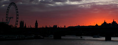 London Sunset (Serge Freeman) Tags: london england greatbritain uk thethames sunset silhouettes river city sky cityscape dark evening