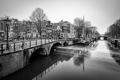 Come and go (miguel_lorente) Tags: blacknwhite longexposure netherlands bnw water bw city cityscape blackandwhite brouwersgracht amsterdam canals