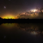 Milky Way Reflections - Cataby, Western Australia thumbnail