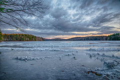 Frozen-Lake (desouto) Tags: nature hdr landscape snow trees ponds reserviors lakes sky color autumn leaves wildfilowers road forest rivers wildflowers clouds rocks