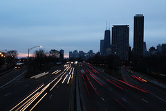 Morning Rush - Wide (CamGoodVideo) Tags: canon5d canon5dmarkiii chicago downtownchicago slow shutter chitown lakeshoredrive lake shore drive lsd morning winter landscape