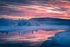 Dawn breaks in to the frosty Polar Night (iSteven-ch) Tags: civildawn sunrise winter reflection sweden torneriver canon marknadsvägen snow eos5dmarkiv kiruna lapland travel forest water trees cold jukkasjärvi clouds europe ice frozen norrbottenslän se