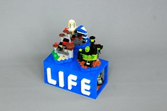 LEGO Life (jsnyder002) Tags: lego life contest rebrick city castle space moc creation build model microscale base spacebase blacktronii rover landscape buildings houses towers tower