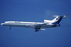 KrasAir TU-154M RA-85683 BCN 05/06/2004 (jordi757) Tags: airplanes avions nikon f90x kodachrome kodachrome64 bcn lebl barcelona elprat tupolev tu154 krasair ra85683