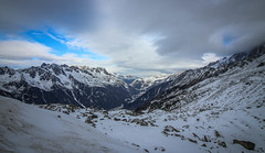 Mountain View (Andy.Gocher) Tags: andygocher canon100d canon1018mm europe france chamonix agiledumidi mountains mountain snow clouds bluesky landscape view mountainside