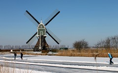 Nederland - Zuid-Holland - Groot  Ammers - Achterlandse molen (@-Loes) Tags: mill molen moulin dutch mühle molino moinho mulino 磨