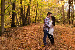 Engaged in a Kiss (Photos By Bill in WV) Tags: autumn fall leaves leave tree trees foliage engagement husband wife boyfriend girlfriend dating love loves lovers lover orange yellow red young october kiss kisses kissing wv westvirginia engaged marriage wedding