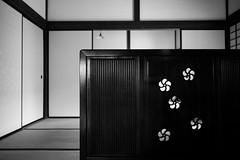 plum blossoms in the room (N.sino) Tags: m9 biogon28mmf28 japanesestyleroom plumblossom 梅の花 衝立 日本間 郷土の森 畳