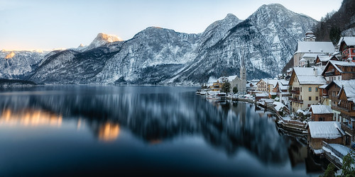 Sunset in Hallstatt