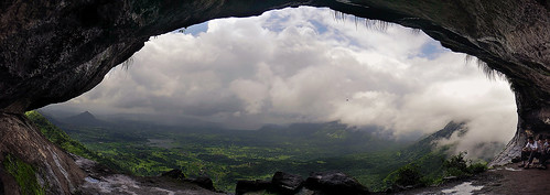 Panoramic view from the peb cave
