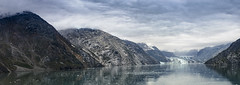 Glacier Bay (magnetic_red) Tags: ocean sky panorama mountains misty alaska clouds reflections bay glacier inlet fjord naturalwonder americanparks