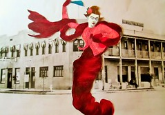 Let Me Dance Wildly in the Streets at Noon (joannmuench) Tags: street woman collage female vintage outside outdoors freedom town dancing antique surrealism joy dream surreal retro fantasy collageart expressionism expressionist fridakahlo eccentric homage surrealistic cutandpaste dancingwoman inherownworld iconographic friedakahlo 30sdress desertloca joannmuench