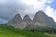 Sasso Lungo z okolic przełęczy Sella