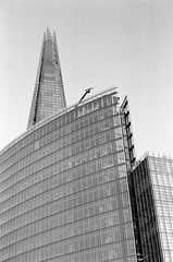 The Shard (MCorrigan1983) Tags: bw london 50mm nikon kodak tmax f14 400 nikkor tmax400 shard southwark ais fe2 2015 400tmx