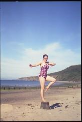 Kodak Retina IIIS (Modified) - Camping in Wales - Ballet Becca (TempusVolat) Tags: family woman film beach girl analog 35mm dance lomo lomography dancing mr kodak scanner experiment dancer scan scanned vintagecamera epson karatekid scanning analogphotography gareth perfection breakwater 35mmphotography retina tempus v200 filmphotography morodo volat garethw mrmorodo garethwonfor tempusvolat