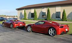 Ferrari 458 Spider x2 (SPV Automotive) Tags: red cars sports car spider convertible ferrari exotic supercar 458