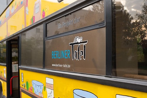 Kimba-Mobil auf dem Schulhof bei der Health Week – Tag der gesunden Ernährung Foto: Ole Bader