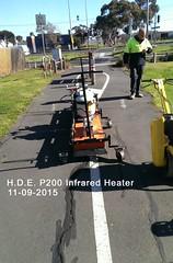 08 Vic Road Demo Work Federation Trail Geelong Rd Brooklyn 11-09-15