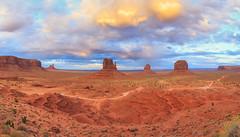 Wild wild west (Yogi.Arora) Tags: sunset arizona landscape utah desert monumentvalley navajonation themittens