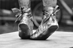 Dance Shoes (d_t_vos) Tags: street portrait blackandwhite bw sculpture ballet feet girl monochrome contrast shoe dance ballerina shoes dof child dancing zwartwit painted arnhem streetphotography dancer nb bow littlegirl sw sole schwarzweiss soles pedestal kerkplein danceshoes noireetblanc 2015 shoesoles livingstatues girld worldstatues dickvos dtvos