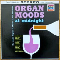 ORGAN MOODS at midnight - FULL FREQUENCY STEREO (hmdavid) Tags: art illustration vintage album grandprix stereo organ cover midnight merlin lp record 1960s moods hammond midcentury