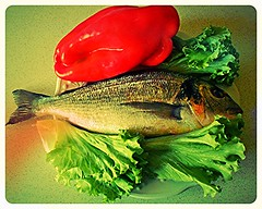 DSCN9184  bella e buona (pratesip) Tags: pesci cucina orata verdura