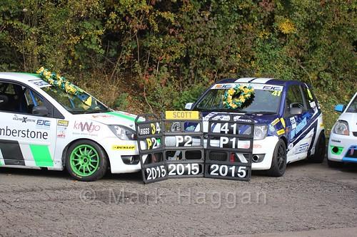 The Jam Sport team celebrate after the Fiesta Junior Championship, Brands Hatch, 2015