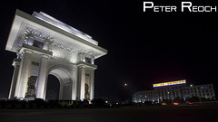ARCH OF TRIUMPH (Peter Reoch Photography) Tags: monument japan night de war republic arch kim north arc triomphe korea peoples korean triumph democratic pyongyang dprk ilsung