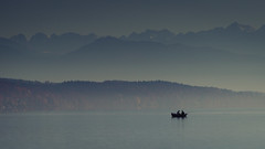 A Sunday Afternoon (Frank Busch) Tags: mountains germany fishing fishingboat starnbergersee lakestarnberg possenhofen frankbusch wwwfrankbuschname photobyfrankbusch frankbuschphotography imagebyfrankbusch wwwfrankbuschphoto