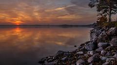 Plauer See-M/V-Germany (b.stanni) Tags: light sunset lake water clouds germany landscape deutschland see licht wasser outdoor wolken lakeside ufer landschaft wandern mv idylle müritz