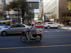 Delivery? (CentipedeCarpet) Tags: street japan four tokyo ginza photos bikes panasonic micro    unlimited thirds gx8