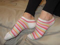Striped Socks (sockstargirl) Tags: sexy feet socks sweaty smelly femalefeet sexysocks sockfetish