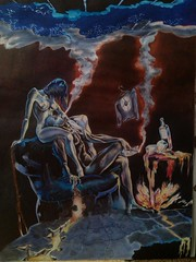 Blue loneliness (arthur.gabrielyan) Tags: art blue loneliness sorrow painting drawing love sex war woman man betrayal lie lover desire whisky parting surreal nudity puzzle