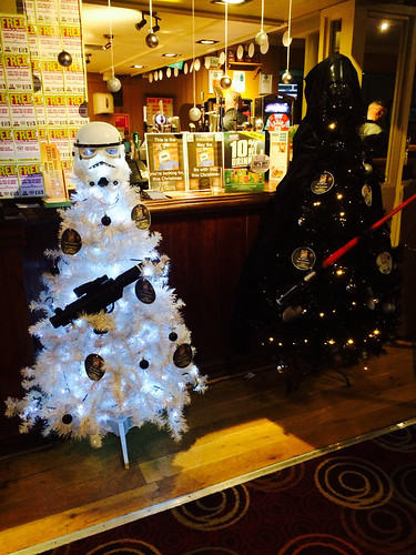 Stormtrooper and Darth Vader Christmas trees - a photo on Flickriver